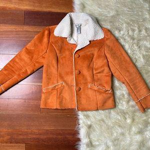 Chico's Orange Button Down Coat Sz 0